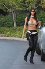KIM KARDASHIAN Out and About in Beverly Hills 10/28/2017