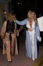 KIM ZOLCIAK and BRIELLE BIERMANN Out for Dinner in Miami 10/17/2017