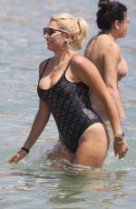 KONSTATINA SPYROPOULOU in Swimsuit at a Beach in Mykonos 10/30/2017