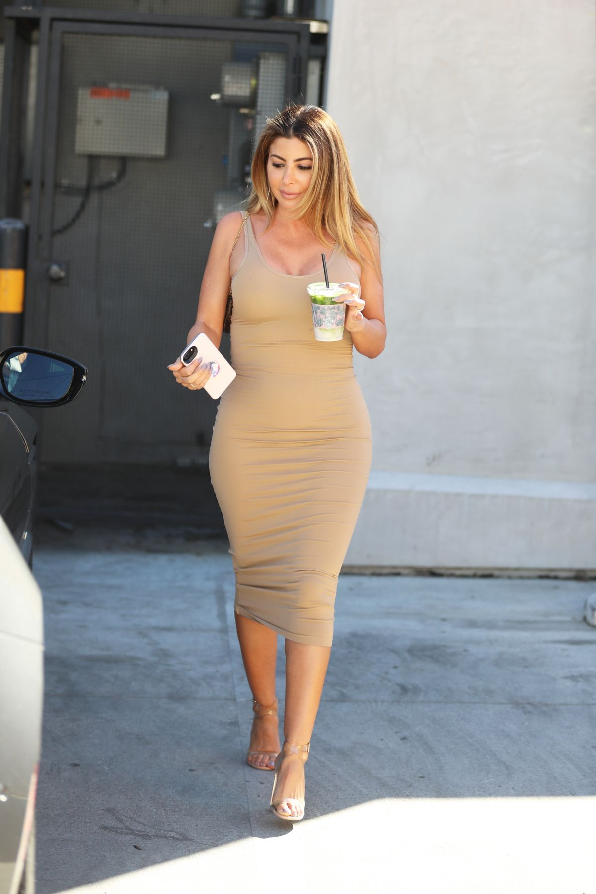 Kourtney kardashian and larsa pippen alfred tea room on melrose place in west hollywood new images