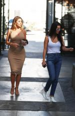 KOURTNEY KARDASHIAN and LARSA PIPPEN at Alfred Tea Room in West Hollywood 10/23/2017