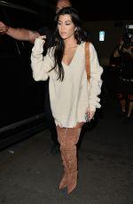 KOURTNEY KARDASHIAN Arrives at Kim Kardashians 37th Birthday Dinner in Los Feliz 10/26/2017