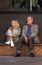KRISTEN BELL and Kelsey Grammer on the Set of Like Father in New York 10/02/2017