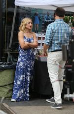 KRISTEN BELL on the Set of Like Father in New York 09/30/2017