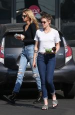 KRISTEN STEWART and STELLA MAXWELL Out in Los Angeles 10/14/2017