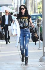 KRYSTEN RITTER  in Ripped Jeans at Judi