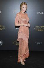 KYLIE MINOGUE at Vogue Party at Paris Fashion Week 10/01/2017