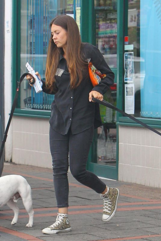 LACEY TURNER Out with Her Dogs in London 10/02/2017