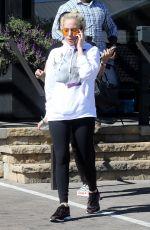 LADY GAGA Leaves Starbucks in Malibu 10/24/2017