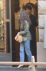 LAETITIA CASTA and Louis Garrel Out in Florence 10/20/2017
