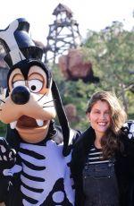 LAETITIA CASTA Poses with Goofy at Disneyland Paris in Marne La Vallee 09/28/2017