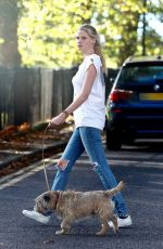 LARA STONE Out and About in London 10/25/2017