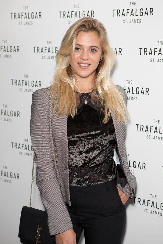 LAURA CRANE at Trafalgar St James Launch Party in London 10/18/2017