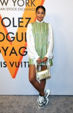 LAURA HARRIER at Volez, Voguez, Voyagez: Louis Vuitton Exhibition Opening in New York 10/26/2017