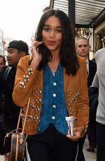 LAURA HARRIER Leaves Bristol Hotel in Paris 10/03/2017