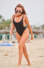 LAURA SIMPSON in Swimsuit on the Beach in Majorca 10/02/2017