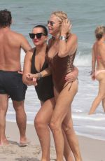 LAUREN FOSTER and MARYSOL PATTON in Swimsuits at a Beach in Miami 10/22/2017