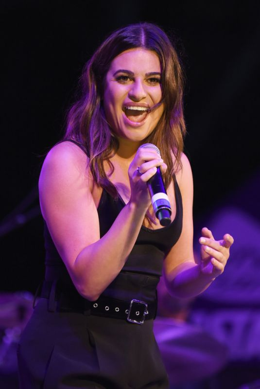 LEA MICHELE at Elsie Fest in New York 10/08/2017