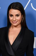 LEA MICHELE at Hollywood Foreign Press Assocation Panel Discussion in Los Angeles 10/26/2017
