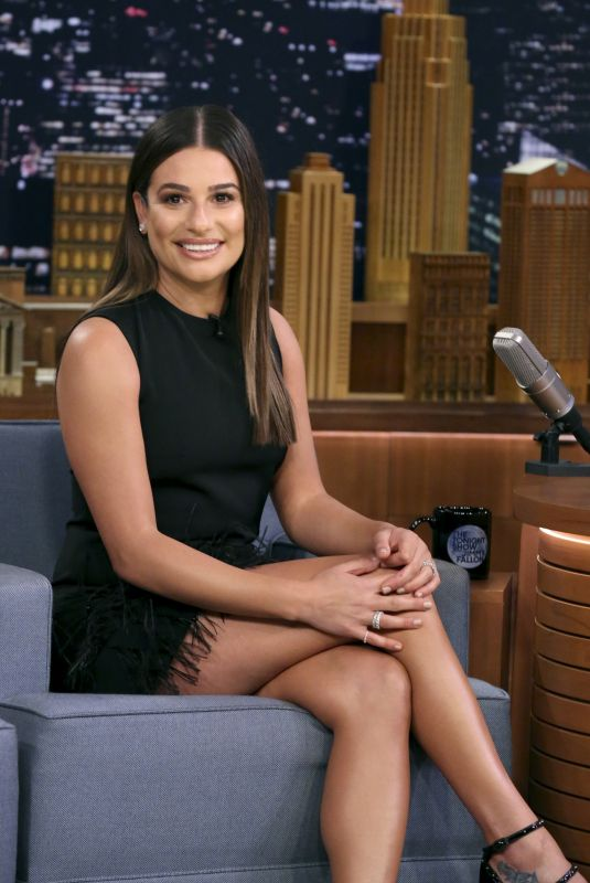 LEA MICHELE at Tonight Show Starring Jimmy Fallon 10/09/2017