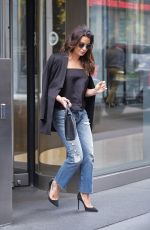 LEA MICHELE Leaves an Office in New York 10/11/2017