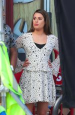 LEA MICHELE on the Set of The Mayor in Los Angeles 10/24/2017