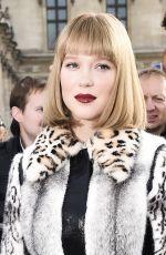 LEA SEYDOUX at Louis Vuitton Fashion Show in Paris 10/03/2017