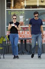 LEIGHTON MEESTER and Adam Brody Out and About in Los Angeles 10/05/2017