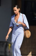 LEONA LEWIS Leaves Crossroads Kitchen in West Hollywood 10/04/2017
