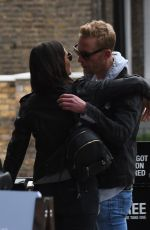 LILAH PARSONS and Laurence Fox Out with Their Dogs in London 10/14/2017