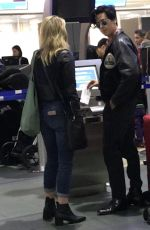 LILI REINHART and Cole Sprouse at Airport in Vancouver 10/07/2017
