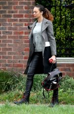 LILLY BECKER Leaves Her Home in London 10/09/2017