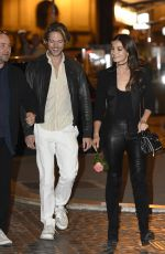 LILY ALDRIDGE and Caleb Followill Out for Dinner in Rome 10/25/2017