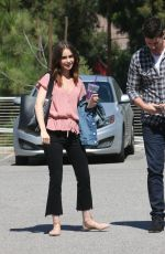 LILY COLLINS After Lunch in Hollywood 10/04/2017