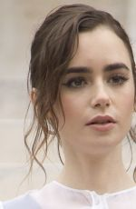 LILY COLLINS at Givenchy Fashion Show in Paris 10/01/2017