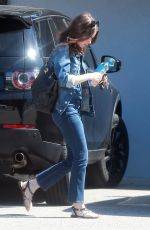 LILY COLLINS in Jeans Out and About in Studio City 10/05/2017