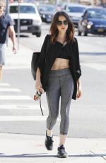 LILY COLLINS Out and About in Beverly Hills 10/06/2017