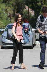 LILY COLLINS Out in Hollywood 10/04/2017