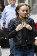 LILY-ROSE DEPP Out and About in New York 10/25/2017