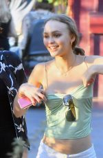 LILY-ROSE DEPP Out at Disneyland in Anaheim 10/27/2017