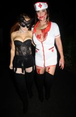 LISA APPLETON at a Halloween Party in Manchester 10/28/2017