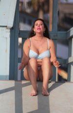 LISA APPLETON in Bikini on the Beach in Los Angeles 10/01/2017