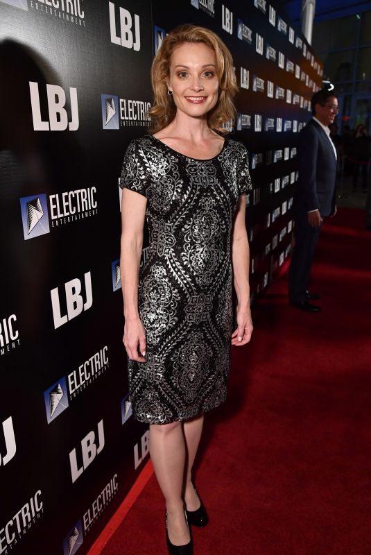 LISA BRENNER at LBJ Premiere in Los Angeles 10/24/2017