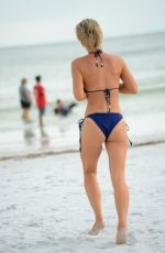LISA OPIE and LAUREN HUBBARD in Bikinis on the Beach in Miami 10/02/2017