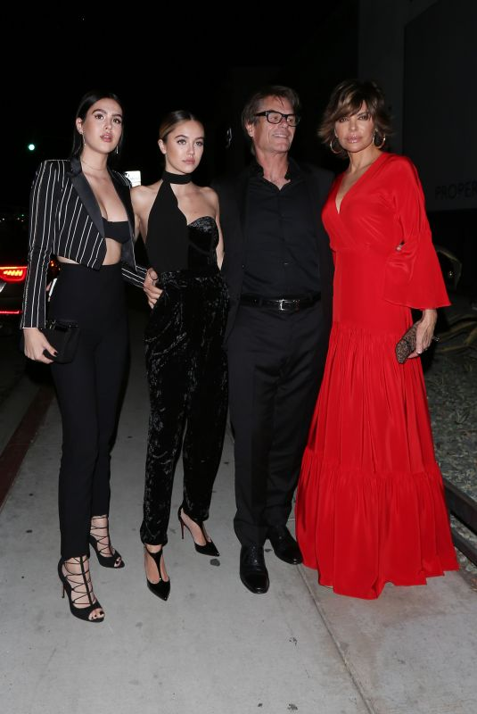 LISA RINNA and AMELIA and DELILAH HAMLIN at Poppy Club in West Hollywood 10/19/2017