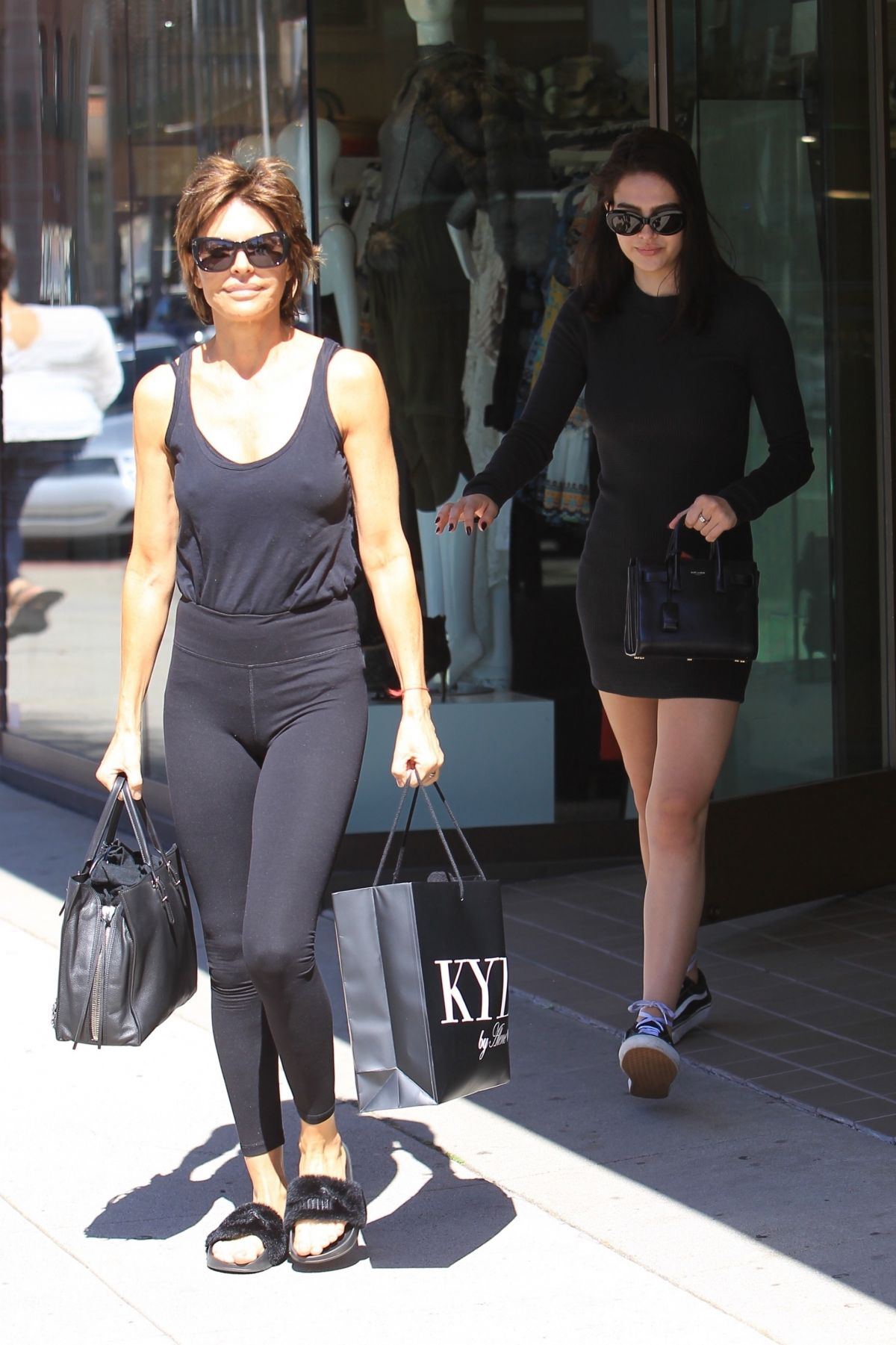 LISA RINNA and AMELIA GRAY HAMLIN Out Shopping in Beverly