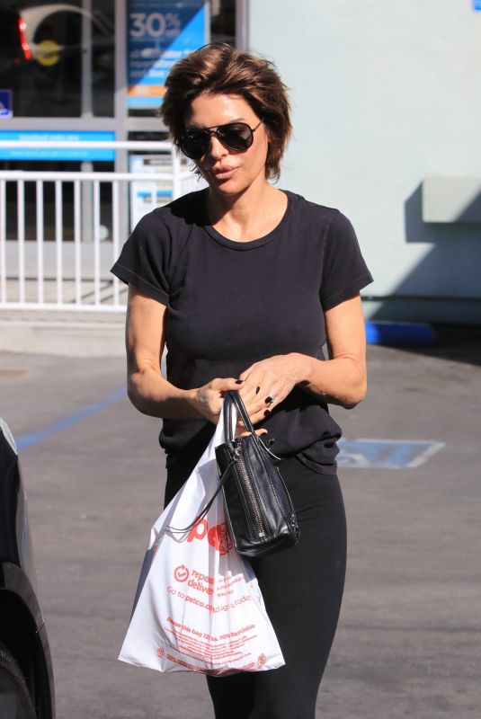 LISA RINNA Out and About in Studio City 10/23/2017