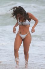 LIZIANE GUTIERREZ in Bikini at a Beach in Miami 10/04/2017