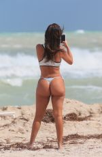 LIZIANE GUTIERREZ in Bikini at a Beach in Miami 10/04/2017