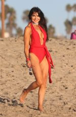 LIZZIE CUNDY in Swimsuits at a Beach in Miami 10/25/2017
